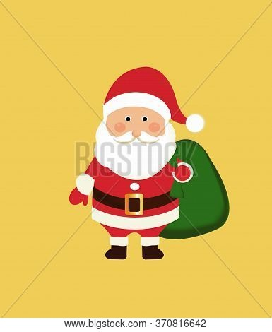Santa Claus Christmas. Santa Claus With Gift Bag. Christmas Festival Gimmick Gift . Symbol Of The Be