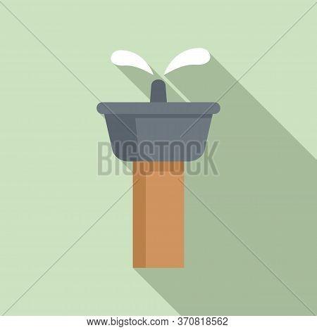 Public Drinking Fountain Icon. Flat Illustration Of Public Drinking Fountain Vector Icon For Web Des