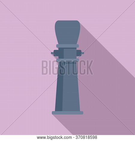 Drinking Pillar Icon. Flat Illustration Of Drinking Pillar Vector Icon For Web Design