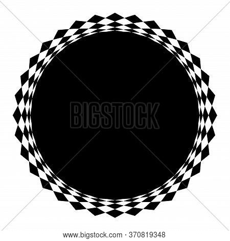 Circle Geometric Abstract Black White For Background, Art Line Black White Spiral Optical For Hypnot