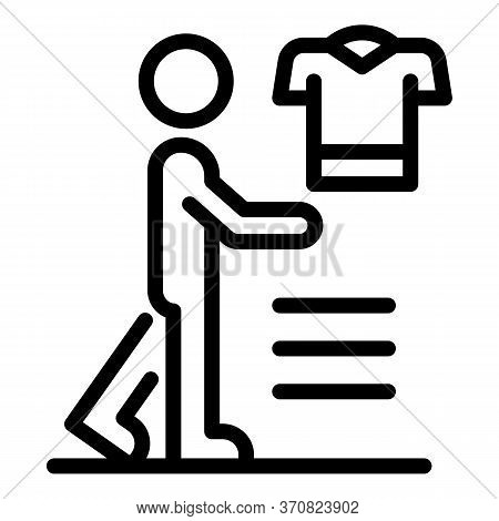 Clothes Store Client Icon. Outline Clothes Store Client Vector Icon For Web Design Isolated On White