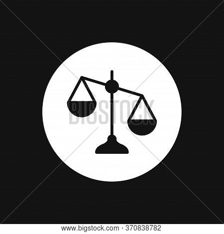 Scales Icon. Scales Of Justice Vector Icon. Court Of Law Symbol.
