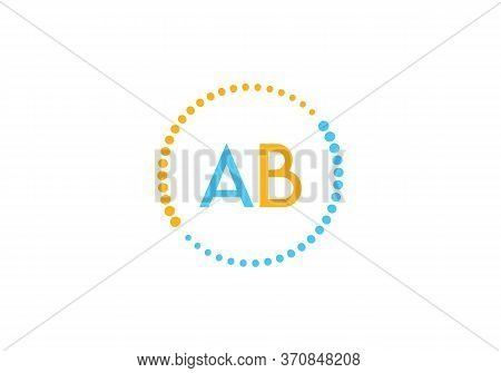 Initial Letter Ab Logo With Circle Element. Design Vector Illustration Template. Ab Letter Logo