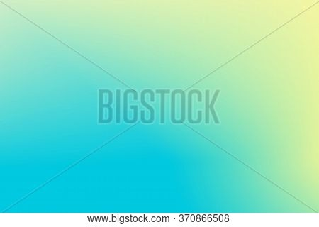 Yellow Blue Vector Gradient Background. Pastel Color Gradient Mesh. Soft Multicolored Backdrop For W