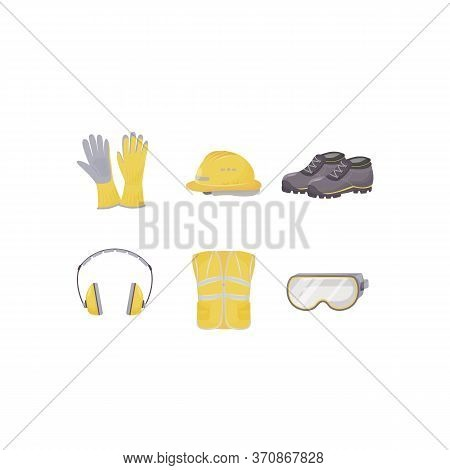 Workwear, Personal Protective Equipment Flat Color Vector Objects Set. Traumatism Prevention, Body P