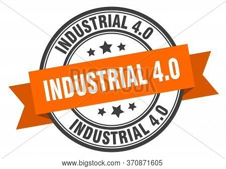 Industrial 4.0 Label. Industrial 4.0round Band Sign. Industrial 4.0 Stamp