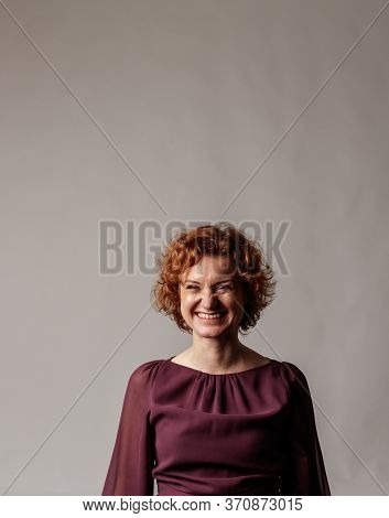 Happy Red-haired Woman. Laughter. Good Vibes.