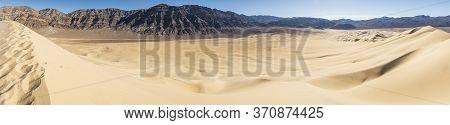 Eureka Sand Dunes Death Valley National Park Panoramic Photo Golden Sand California Highest Desert M