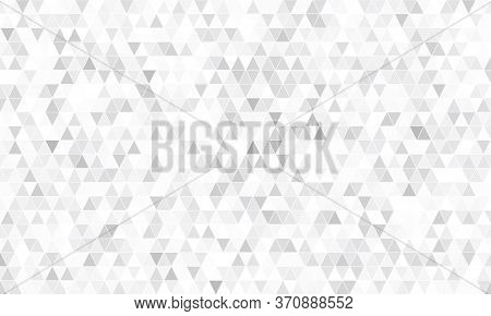 Mirror Silver Triangle Tiles. Abstract Mosaic Geometry Pattern. Triangle Minimal Mirror Background F