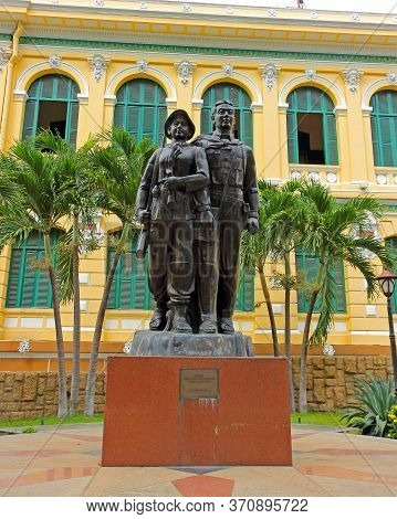 Ho Chi Minh City, Vietnam - March 28, 2019: View On Monument Of Viet Cong Revolutionary Soldiers Del