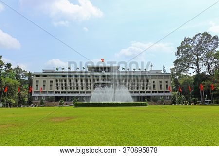 Ho Chi Minh City, Vietnam - March 28, 2019: View On The Reunification Palace Or Independence Palace