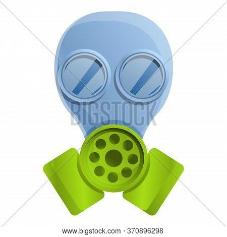 Gas Mask Icon. Cartoon Of Gas Mask Vector Icon For Web Design Isolated On White Background