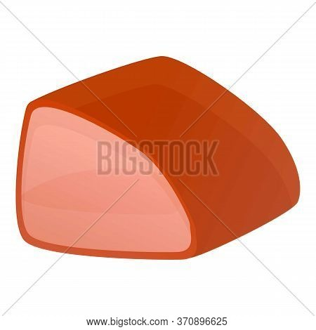 Meat Part Icon. Cartoon Of Meat Part Vector Icon For Web Design Isolated On White Background