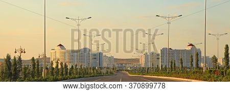 Ashgabat, Turkmenistan - May 02, 2019: Modern Architecture Of Ashgabat.  View Of The Modern District