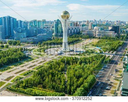 Aerial View Of The Baiterek Tower In Nur-sultan (astana), Kazakhstan