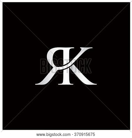 Initials With Connected Letter R And Letter K Logo
