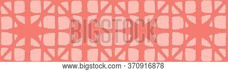 Japanese Tie Dye Seamless Pattern. Soft Shape Curve Pattern Bohemian Kimono Fabric. Premium Japanese