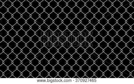 Wire Mesh For Background, Barrier Net On Dark, Wire Net Metal Wall, Barbed Wire Fence, Metal Grid Wi