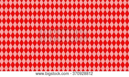 Red Rhombus Pattern For Background, Geometric Diamond Pattern Red For Backdrop, Rhombus Texture Red