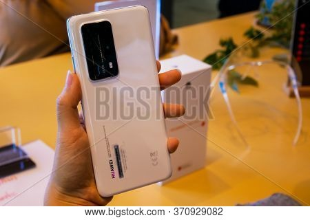Bangkok, Thailand - June 4, 2020: Huawei P40 Pro+ Has Been Unveiled In Thailand, An Android-based Hi