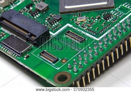 Moscow, Russia - June 11, 2020: Pay A Mini Computer With A Processor And Interface Connectors. Minia