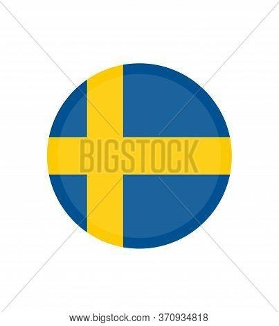 National Sweden Flag, Official Colors And Proportion Correctly. National Sweden Flag. Vector Illustr