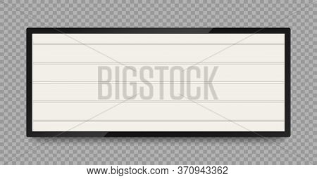 Retro Lightbox For Advertising Or Text Banner. Vintage Signboard In Frame For Cinema, Theatre And Ev