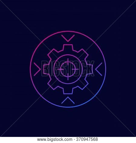 Integration Concept Vector Icon, Linear Style, Eps 10 File, Easy To Edit