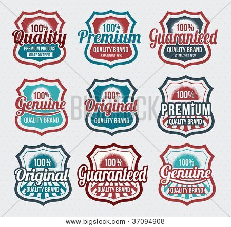 Retro, vintage, Badge and label vector icon logo design