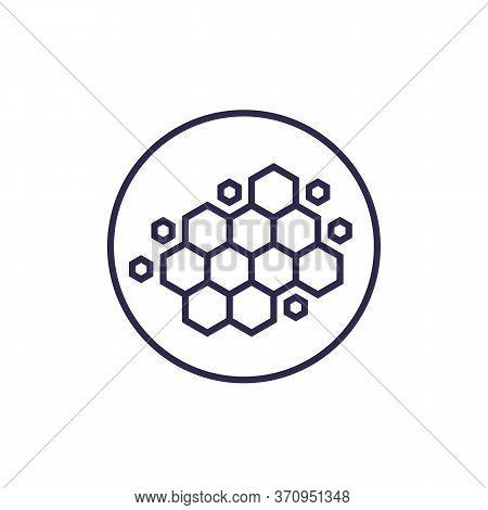 Nano Materials, Nanostructure, Vector Line Icon, Eps 10 File, Easy To Edit