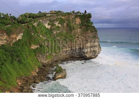 Uluwatu Temple On The Edge Of The Coast In Bali, Indonesia. Uluwatu Is The Most Popular Area On Bali