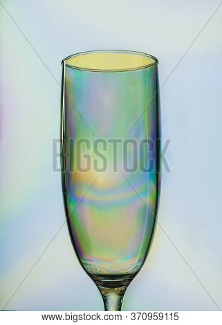 Champagne Plastic Glass, Colorful Made From Elasticity Tehnique