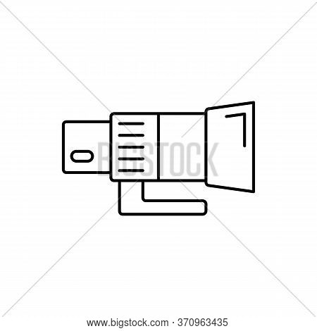 Camera Telephoto Lens Icon. Simple Line, Outline Vector Elements Of Shooting Equipment For Ui And Ux