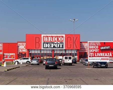 Focsani, Romania - October 23, 2017. Brico Depot Store In Focsani. Brico Depot Is A French Chain Of