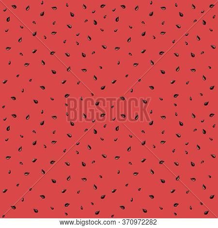 Seamless Watermelon Seed Pattern. Watercolor Summer Repeating Fabric Texture With Seeds. Watermelon