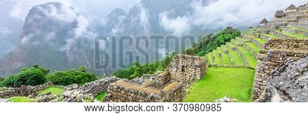 Machu Picchu, A Peruvian Historical Sanctuary. One Of The New Seven Wonders Of The World