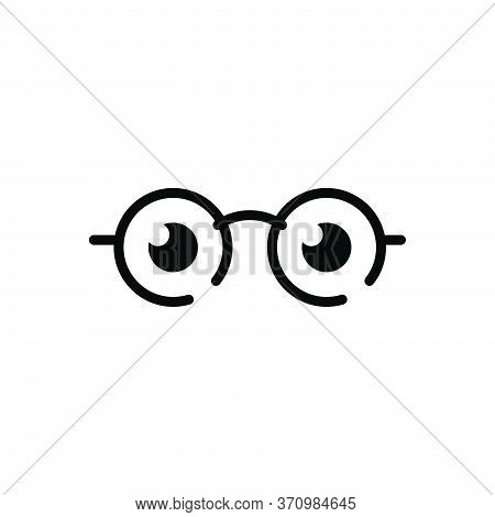 Black Solid Icon For See View  Look Sight Watch Vision Eyesight Dristi Peep