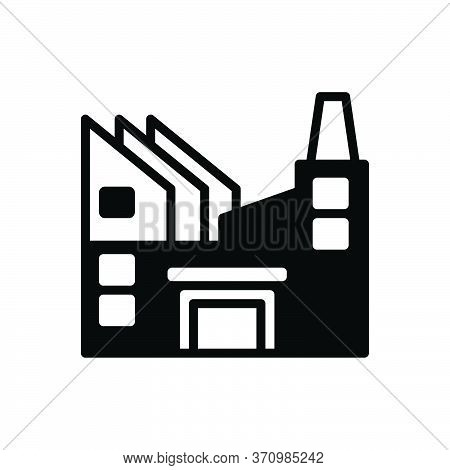 Black Solid Icon For Industry  Factory  Manufacturing Hydropower  Worker