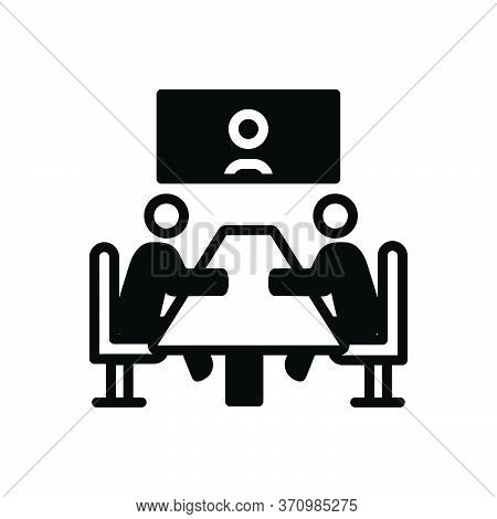 Black Solid Icon For Meeting Convention Conference Gathering Assembly