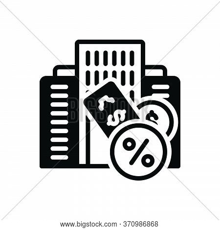 Black Solid Icon For Taxation Finance Accounting Revenue Taxes