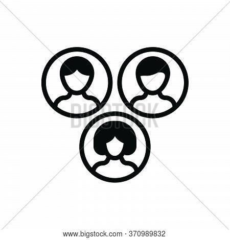 Black Solid Icon For Community Summation Party Flock People  Teamwork  Together