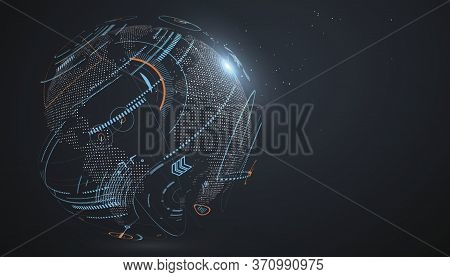 Artificial Intelligence And Machine Learning Concept. Neural Networks And Modern Technologies. Big D