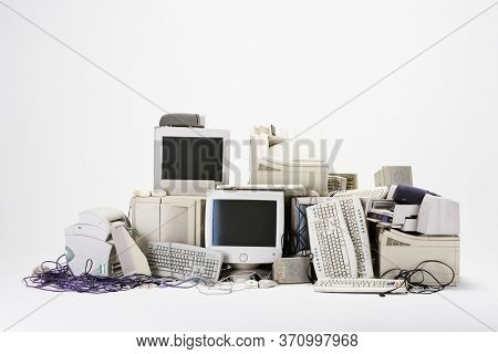 Photo of Pile of computer hardware