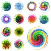Swirl elements for design. Vector illustration. poster