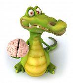 Reptilian brain poster