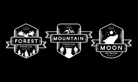 Forest, Mountain And Moon Collection Set Logo