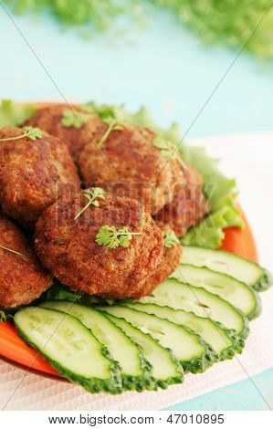 Cutlets With Watercress