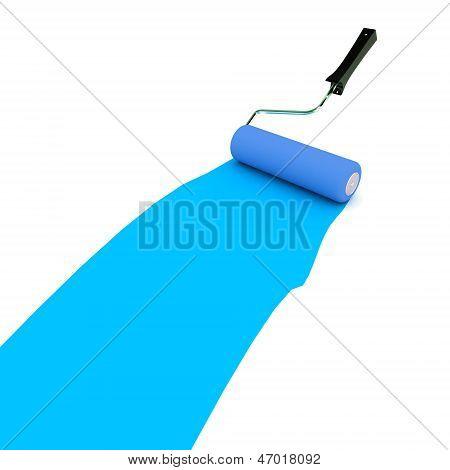 Blue Paint Roller