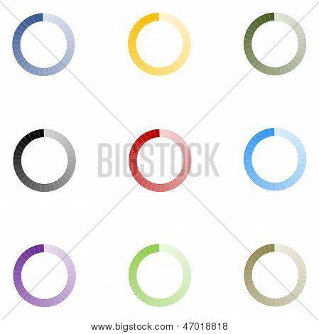 Loading Indicators Set 9 Colors - v2