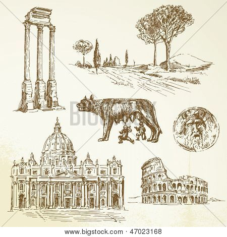 Italy, Rome - drawing